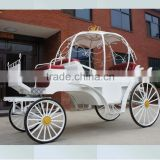 High quality royal European style vintage royal horse pumpkin carriage wedding party shopping mall decoration