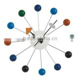 Furniture wooden home decoration fancy design colorful ball clock