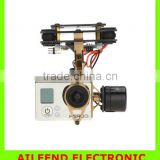 FPV Camera 2-Axis Brushless Gimbal Mount Golden for 3 Camera /DJI Phantom 1 2 Compatible Tarot