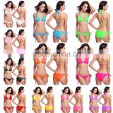 Strap Scrunch Butt Bikini 2pc Cheeky Brazilian Bottom swimsuit swimwear sets                                                                         Quality Choice