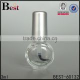 3ml round skull empty nail polish glass bottle with aluminum caps                                                                         Quality Choice
