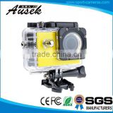 Shenzhen Sport Camcorder Factory 720p Waterproof DV Action Camera Support 32GB SD Card/Micro TF Card