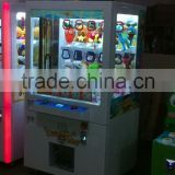 Mantong Golden Key Arcade Toy Claw Crane Machine/ Coin Operated Push Gift Machine for sale