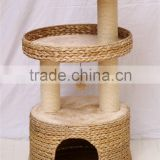 Guangzhou Canton Fair banana leaf Cat Furniture Modern Cat Tree