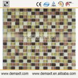 Colorful Shandong dezhou vase crystal glass mix marble mosaic tile for bar wall