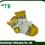 child cartoon jacquard lace cuff socks