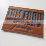 China Produced Branded Leather Patch, Customer Logo Jean Jacket Patches, Brand Logo Leather Patch Label