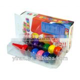 Eco-Friendly Stationary Cute Multi Color Custome Shape Plastic Finger Crayons Set for Kids