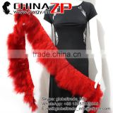 ZPDECOR Top Selling Turkey Plume Fringe Factory Wholesale Dyed Red Trim Marabou Feathers Trimmings