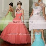 2012 Beaded sweetheart bust tulle organza custom-made Quinceanera dress with jacket CWFab3613
