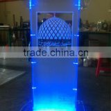 modern acrylic prodium with bule led light