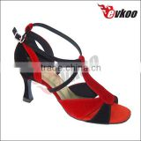 "women/girls red/green/black colors suede material upper 3"" high heel dance shoes for tango/salsa dance shoes"