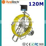 120M Fiberglass Cable 7'' TFT LCD Monitor CCTV Pipe Inspection Camera System/Drainage Camera Inspection With Meter Counter