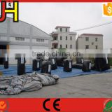 Custom 16 pcs Black PVC Inflatable Nerf Bunkers For Sport Game