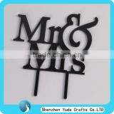 Bride & Groom Love Silhouette Party Favors Decoration, Mr Mrs Wedding Cake Topper