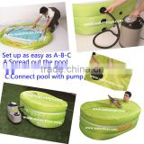 easy set up inflatable spa bath tub,hot tub