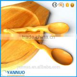 Natural Wood Material ice cream Spoon, Small Wooden Salt Jam Tea Spoons