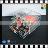 2016 Custom 4 Drawers Clear Acrylic Display Box,Wholesale Makeup Cosmetics Organizer ,Acrylic Transparent Storage box