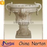 european classical natural marble flower pot liners for garden NTMF- FP213X
