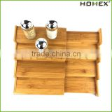Bamboo unique spice rack/ spice rack organizer Homex-BSCI