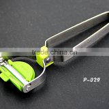 P029 Kasun gadget potato slicer Stainless Steel coconut Y Peeler in green with fridge magnets