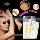 Metallic body art painting tattoo sticker