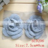 wholesale cheap handmade crochet rose flower lace applique