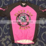 Hongen apparel Wholesale Custom 100% Polyester Sublimated Cycle shirts / Racing Team Polo Shirts/jerseys Wear