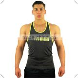 custom wholesale cheapest Gym Men Bodybuilding Tank Top Fitness Athletic Shirts Y BACK Racer