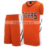 Basket Ball Uniforms tackle twill embroidery work in top superior quality 100% polyester fabric