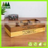 High Quality Wood Tray Wooden Box for Succulent Plant wooden plant box