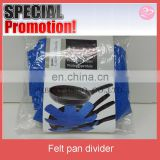 3pcs set blue color Antislip print felt mat for pan,divider for frying pan