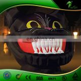 Hongyi Custom 3 M Inflatable Black Cat with White Incisive Tooth, Halloween Decoration Inflatable Human Balloon for Sale