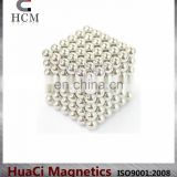 Colorful Neodymium 5mm Silver magnetic ball toy