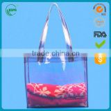 2016 fashion design PVC waterproof beach bag with PP handle made in China and best price