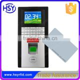 Passive Network Biometric Finger Print Access Controller and Time Attendance Device with Free RFID Card Testing