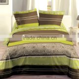 Super King Green Microfiber Printing Wholesale Strip and Circle Bedding Comforter Sets with Elegant PVC Bags