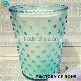pouplar clear blue pearl glass candle containers for candle making wholesale christmas decorations