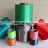 ECO-Friendly colored high tenacity low elongation industrial 100% polyester filament yarn