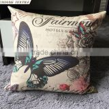 flower and birds Pillow with digital print