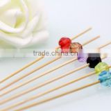Promotional Cocktail Bamboo Pick With beautiful bead