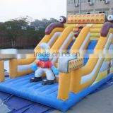 funny slide blue spirit slide inflatable bouncer games