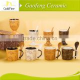 cheap ceramic coffee mug/ high quality promotional ceramic mugs/ tall ceramic coffee mugs