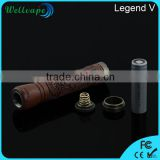 Classic design wood carved skull e-cigarette 30W vaporizer