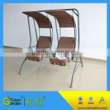 Hanging garden canopy two seat swing chair modern two seater fabric swing chair
