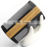 Fashiom Hair Styling Tools Dandruff Comb Natural Sandalwood & OX Horn Hand Comb Hair Beard Mustache Healthy Comb