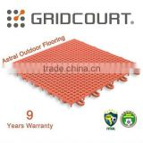 Gridcour Outdoor Suspended Interlocking Sports Flooring Tiles
