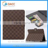 grid style leather case for samsung galaxy tab 4 10.1
