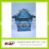 Blue mail box for wall crafts exterior wall decoration material