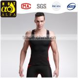 Men's Sports Gym Running Base Layer Tights Vest Sleeveless Compression Shirt dry fit tank tops